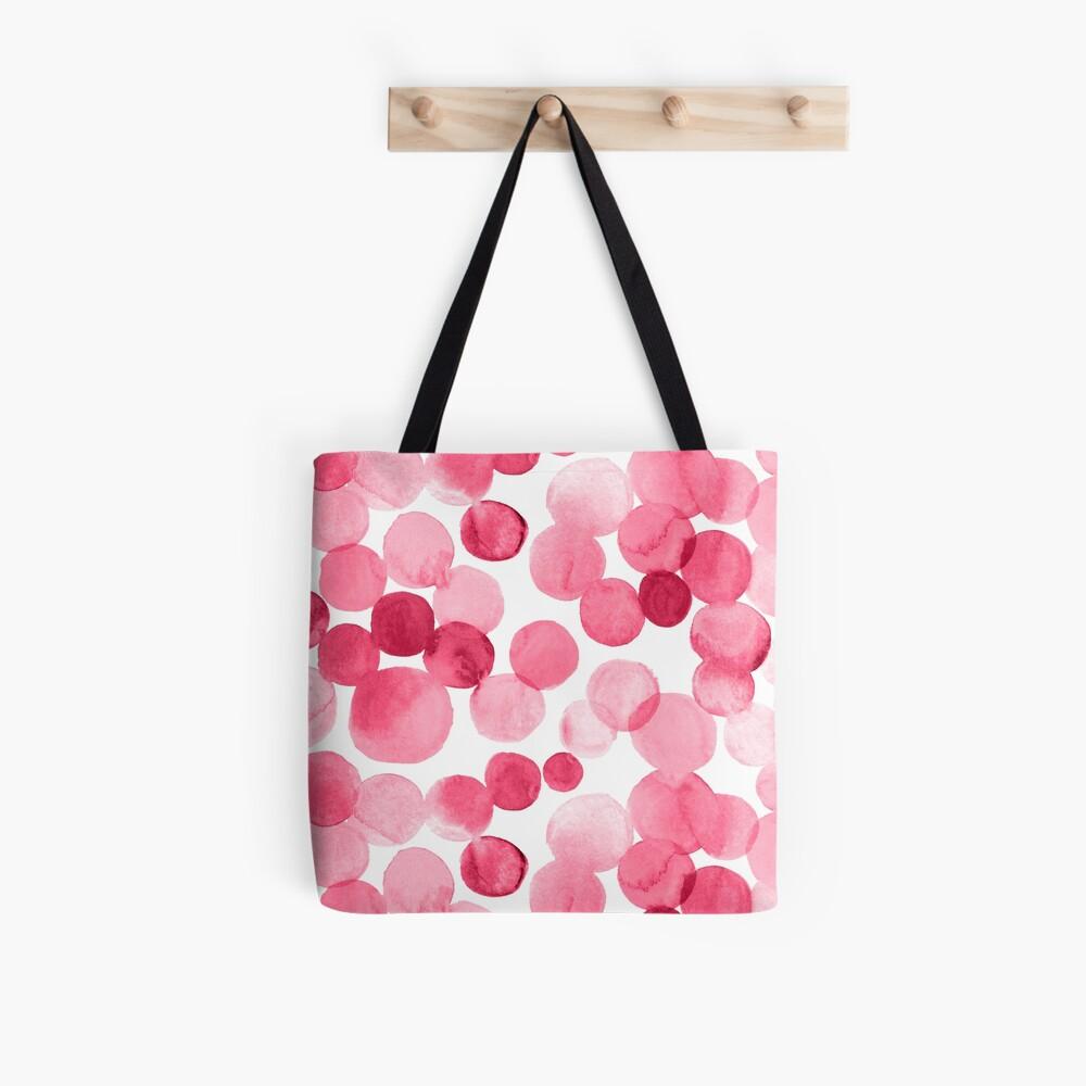 Watercolor Circles - Pink Tote Bag