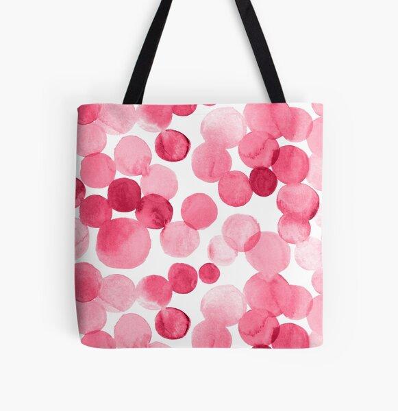 Watercolor Circles - Pink All Over Print Tote Bag