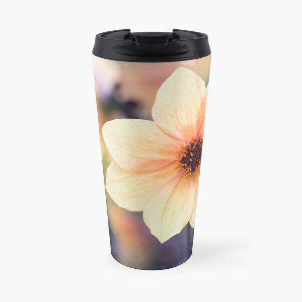 Yellow Summer Flower Travel Mug