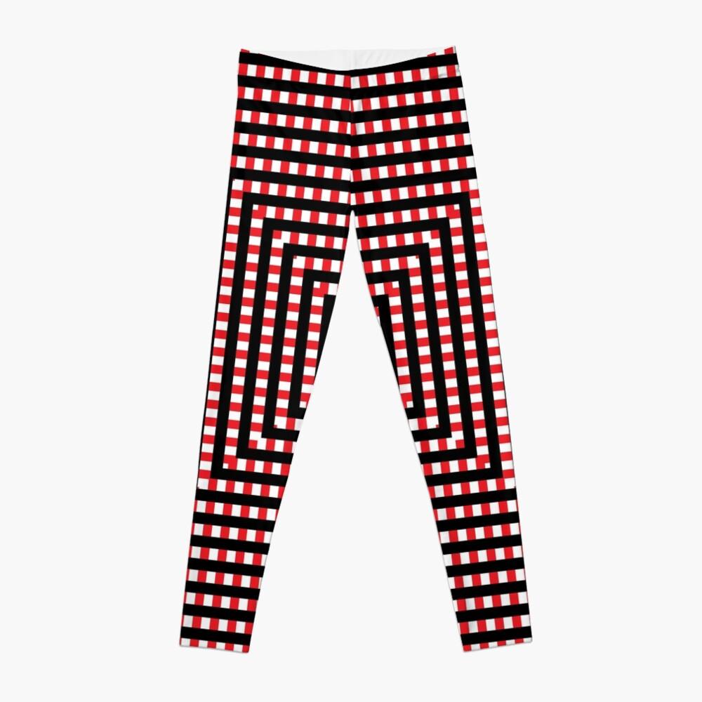 #Pattern, #design, #abstract, #art, illustration, square, illusion, paper, decoration Leggings