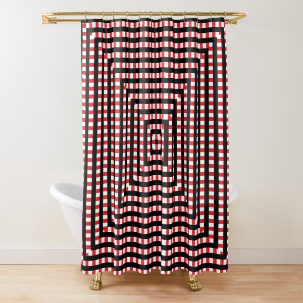 #Pattern, #design, #abstract, #art, illustration, square, illusion, paper, decoration Shower Curtain