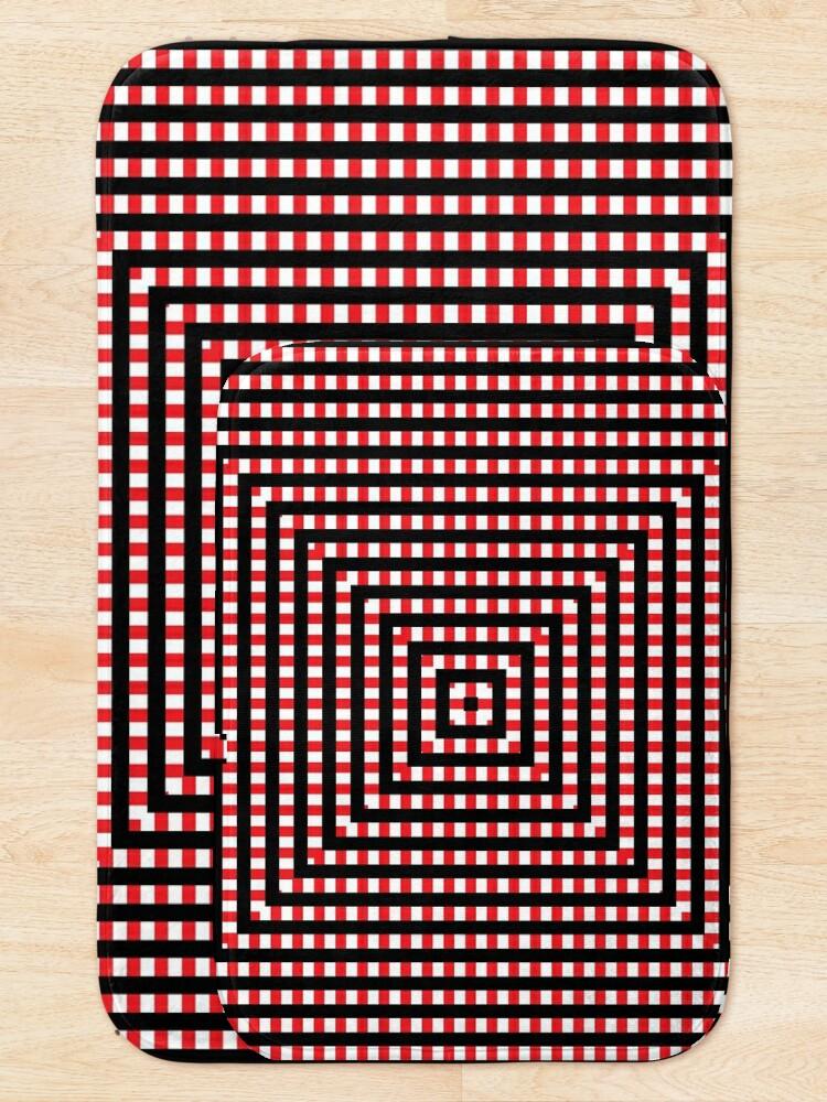 Alternate view of #Pattern, #design, #abstract, #art, illustration, square, illusion, paper, decoration Bath Mat