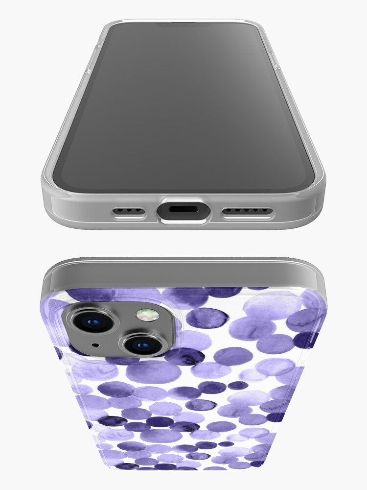 Alternate view of Watercolor Circles - Purple iPhone Case