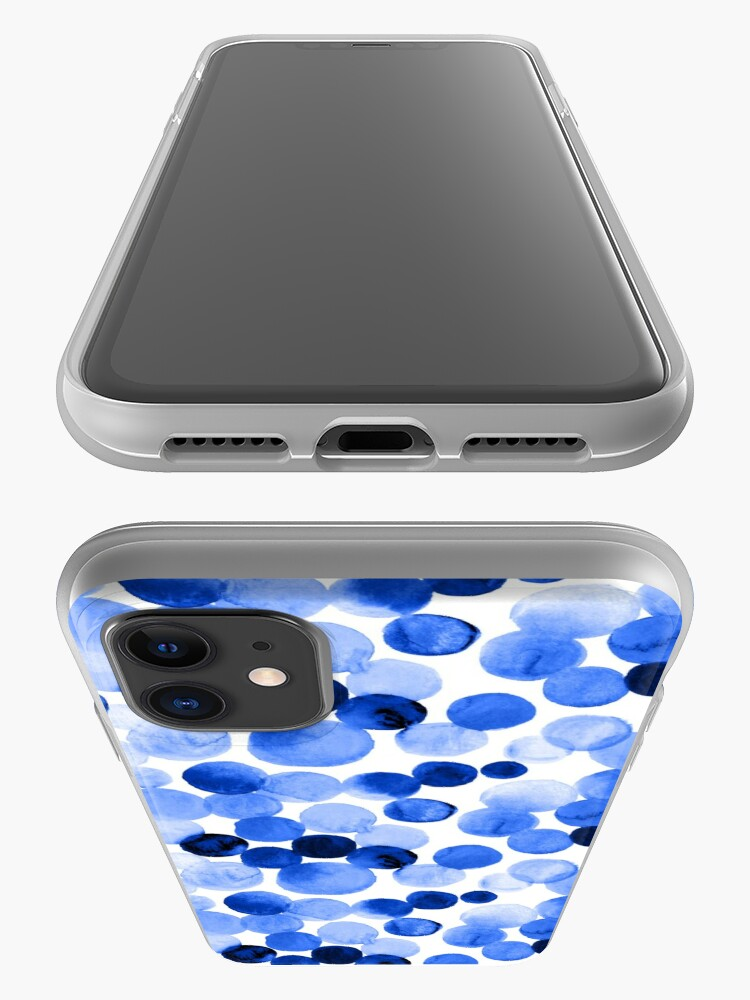 Alternate view of Watercolor Circles - Royal Blue iPhone Case & Cover