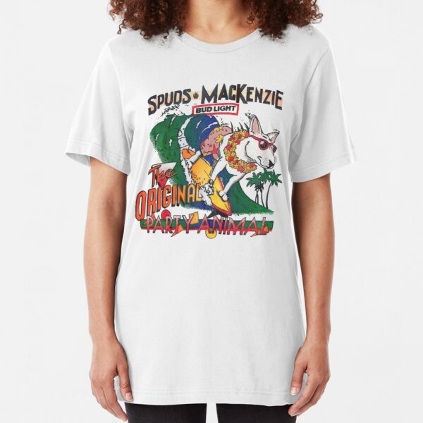 Spuds Mackenzie (80's Throwback) Slim Fit T-Shirt