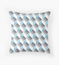 cubic pattern - geometric 3d design -seamless Throw Pillow