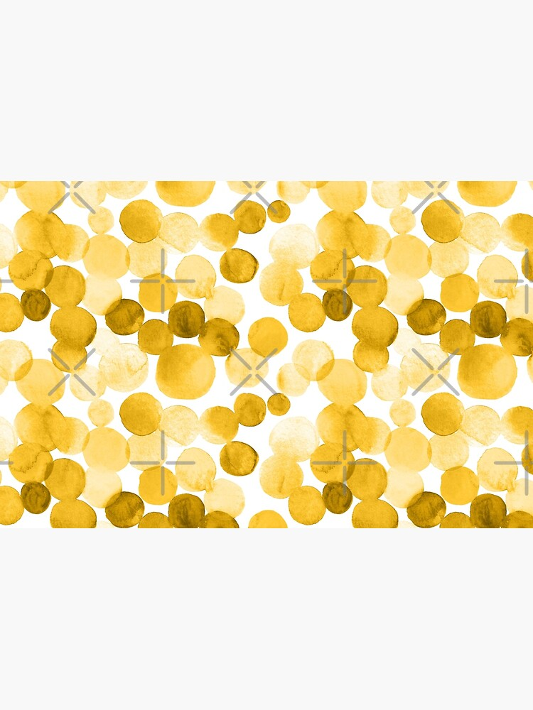 Watercolor Circles - Mustard Yellow by annieparsons