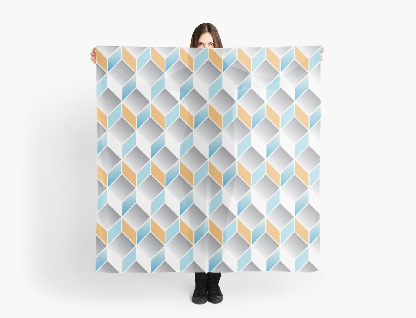 cubic pattern - geometric 3d design -seamless by ohaniki