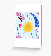 Tarjeta de felicitación Patrón de flor feliz