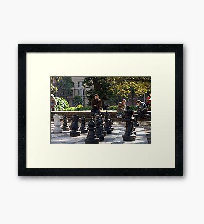Check Mate Framed Print