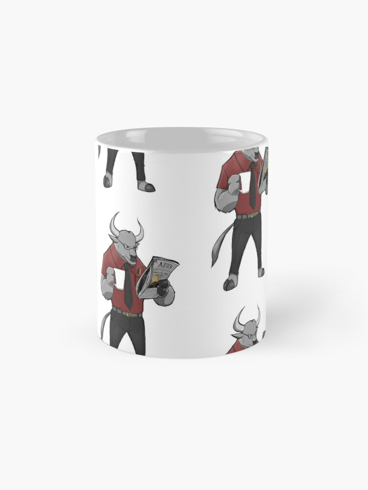 Alternate view of Mr Root - the minotaur mascot Mug