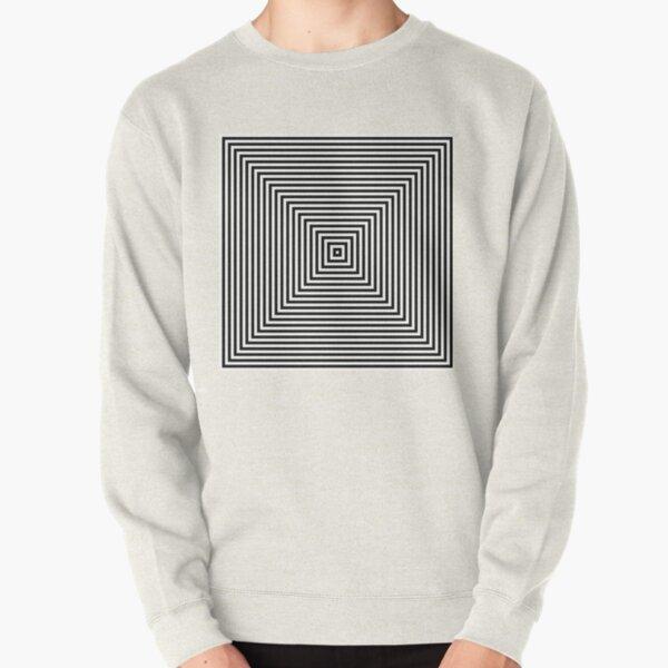 #Pattern, #design, #abstract, #art, illustration, square, illusion, paper, decoration Pullover Sweatshirt