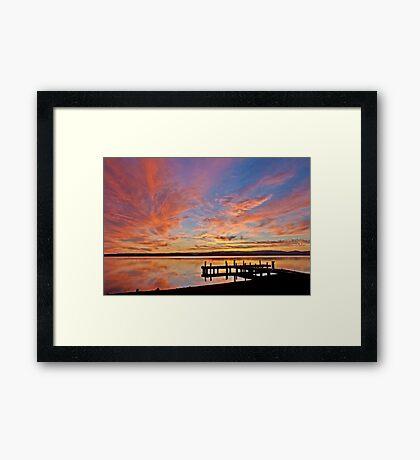 Squid's Ink Sunset Framed Print