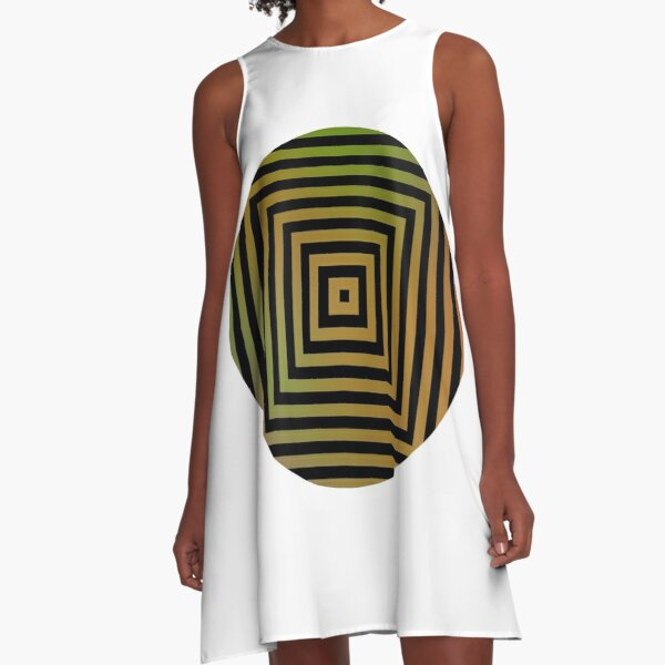 #Hypnosis #Hypnotic Image #HypnosisImage #HypnoticImage A-Line Dress