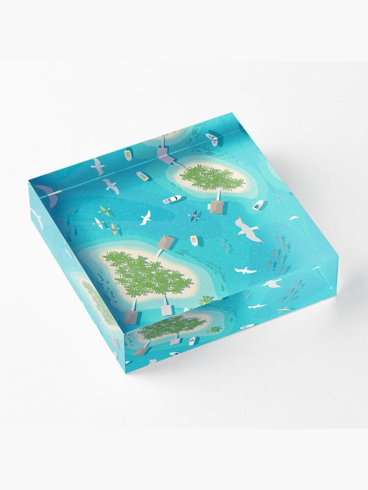 Alternate view of Flight Over Paradise Acrylic Block