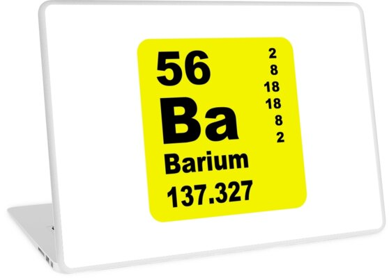 Barium Periodic Table Of Elements Laptop Skins By Walterericsy