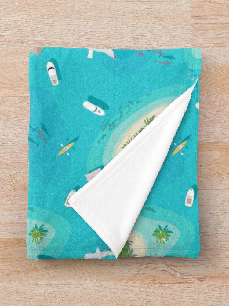 Alternate view of Flight Over Paradise Throw Blanket