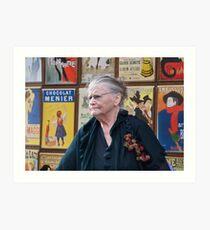 Woman at Montmartre Art Print