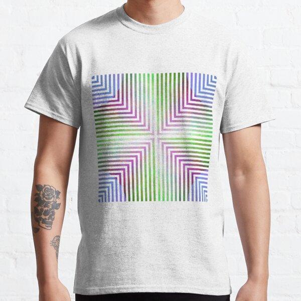 #Pattern, #design, #abstract, #art, illustration, square, illusion, paper, decoration Classic T-Shirt