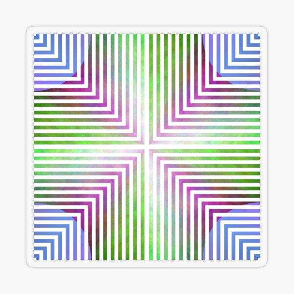 #Pattern, #design, #abstract, #art, illustration, square, illusion, paper, decoration Transparent Sticker