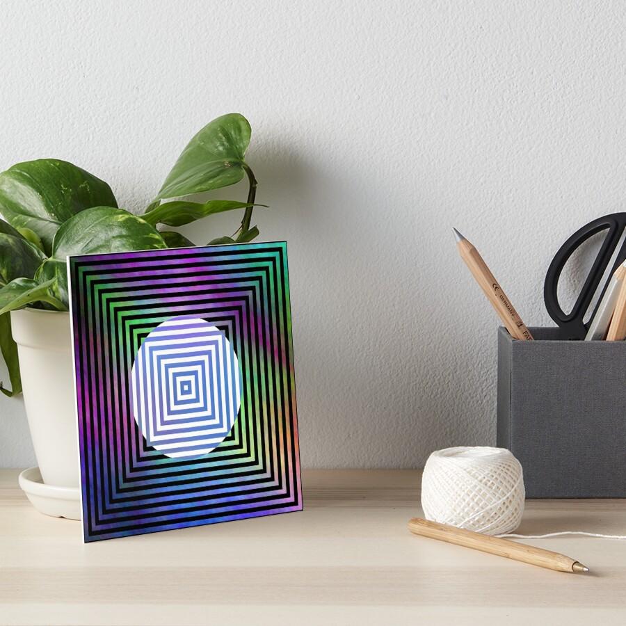 #Illusion, #pattern, #vortex, #hypnosis, abstract, design, twist, art, illustration, psychedelic Art Board Print