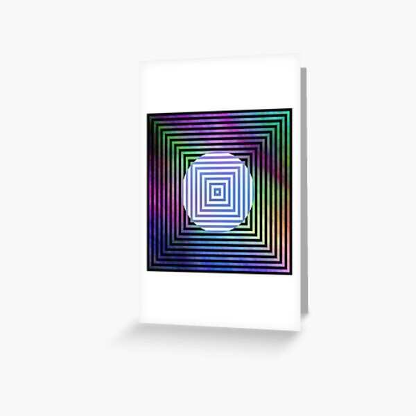 #Illusion, #pattern, #vortex, #hypnosis, abstract, design, twist, art, illustration, psychedelic Greeting Card