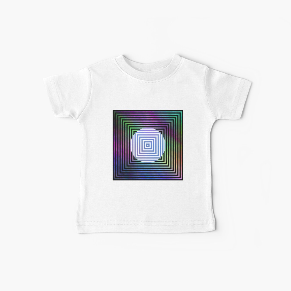 #Illusion, #pattern, #vortex, #hypnosis, abstract, design, twist, art, illustration, psychedelic Baby T-Shirt