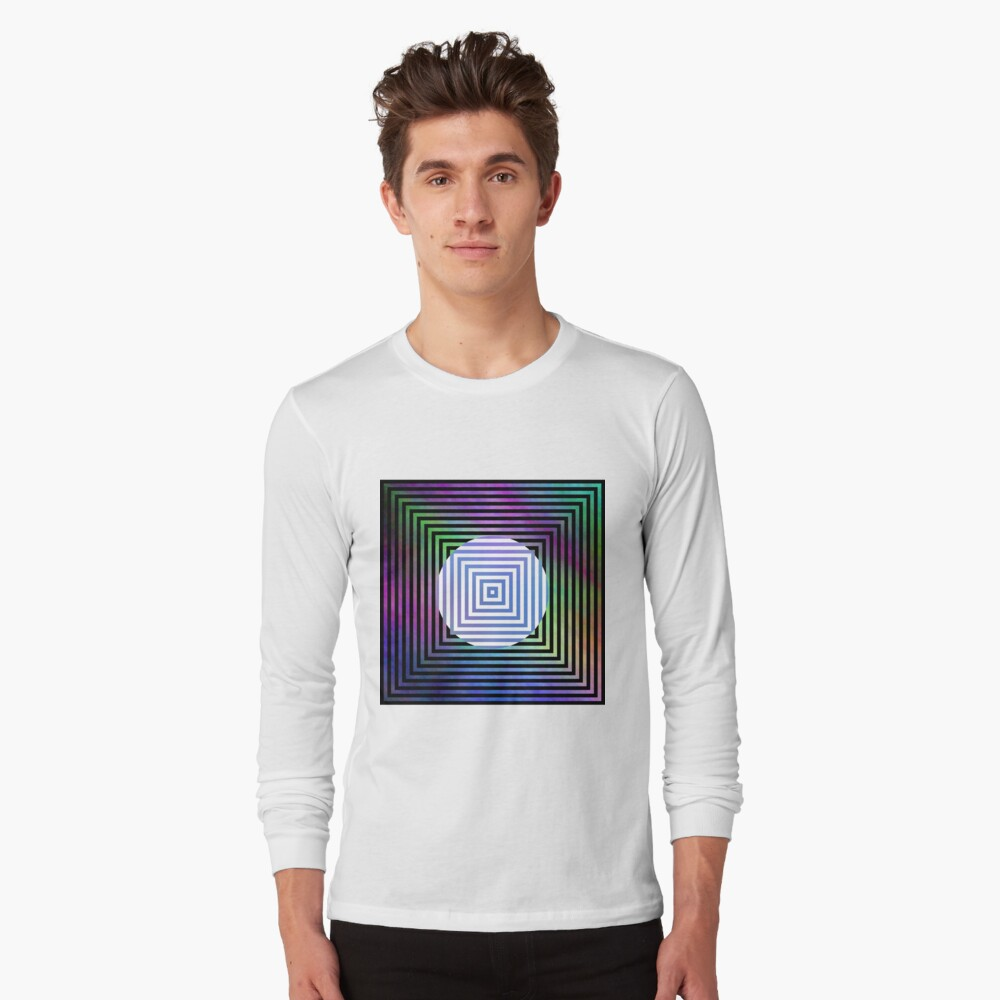 #Illusion, #pattern, #vortex, #hypnosis, abstract, design, twist, art, illustration, psychedelic Long Sleeve T-Shirt