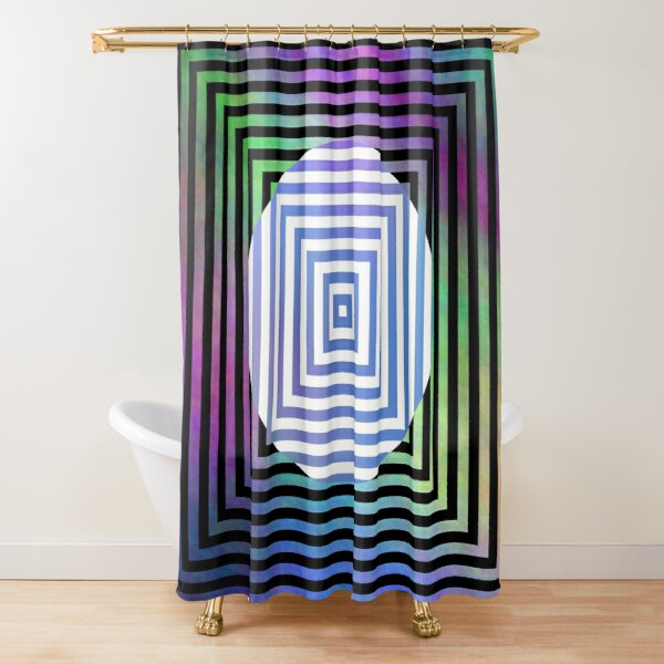 #Illusion, #pattern, #vortex, #hypnosis, abstract, design, twist, art, illustration, psychedelic Shower Curtain