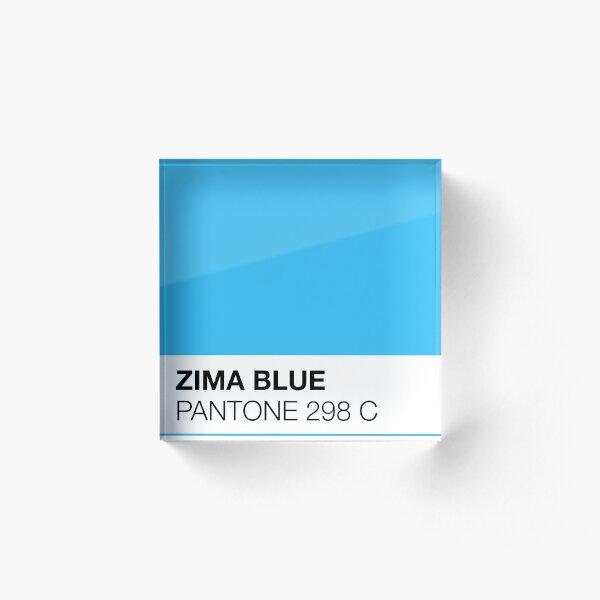 Pantone — Zima Blue Acrylic Block