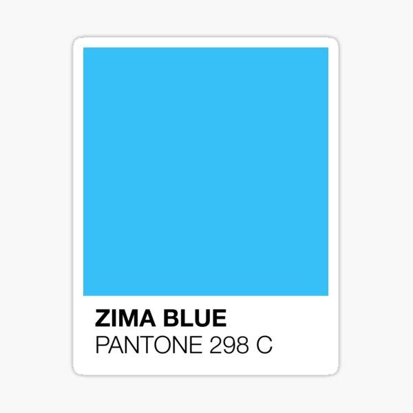 Pantone — Zima Blue Sticker