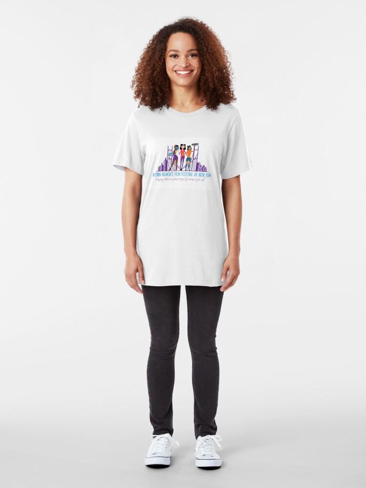 Alternate view of Uptown Women's Film Festival of New York Slim Fit T-Shirt