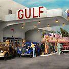 Gas Station - The great american road trip 1939 by Michael Savad