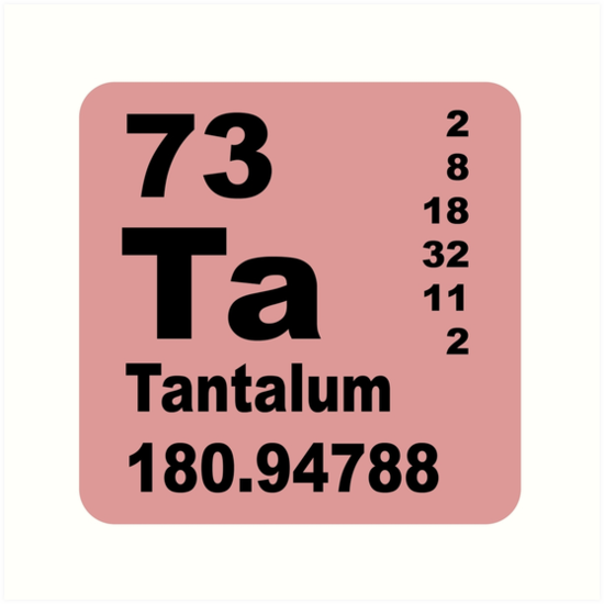 Tantalum Periodic Table Of Elements Art Prints By Walterericsy