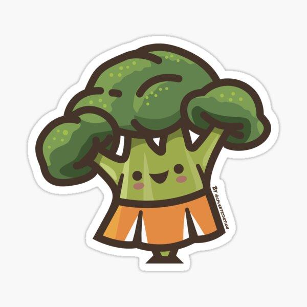 Broccoli Cheerleader  Sticker