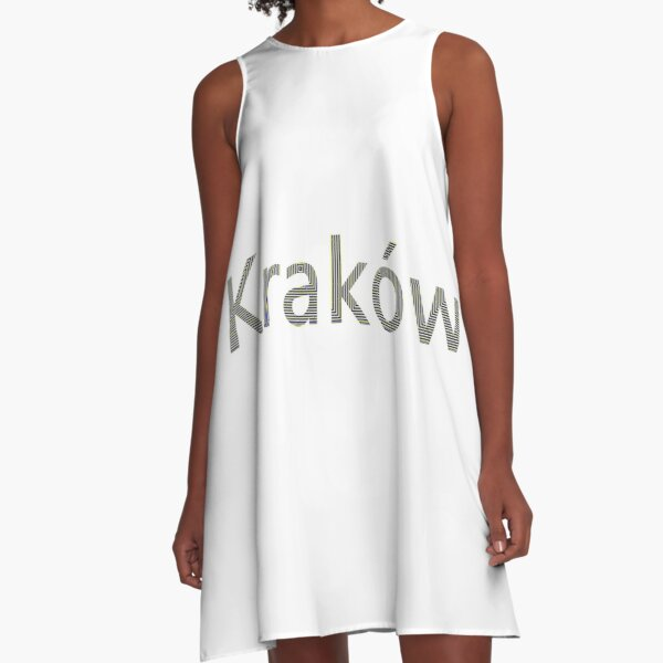 Kraków (Cracow, Krakow), Southern Poland City, Leading Center of Polish Academic, Economic, Cultural and Artistic Life A-Line Dress