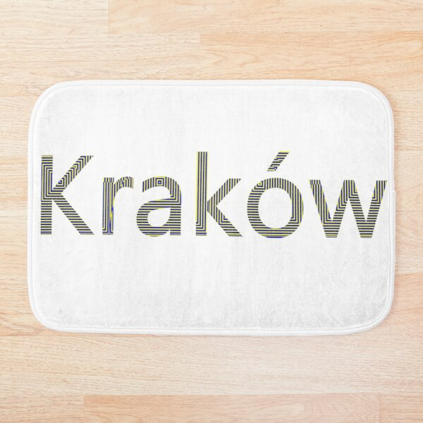 Kraków (Cracow, Krakow), Southern Poland City, Leading Center of Polish Academic, Economic, Cultural and Artistic Life Bath Mat
