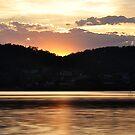 Sunset over Lake Macquarie NSW Australia by Bev Woodman
