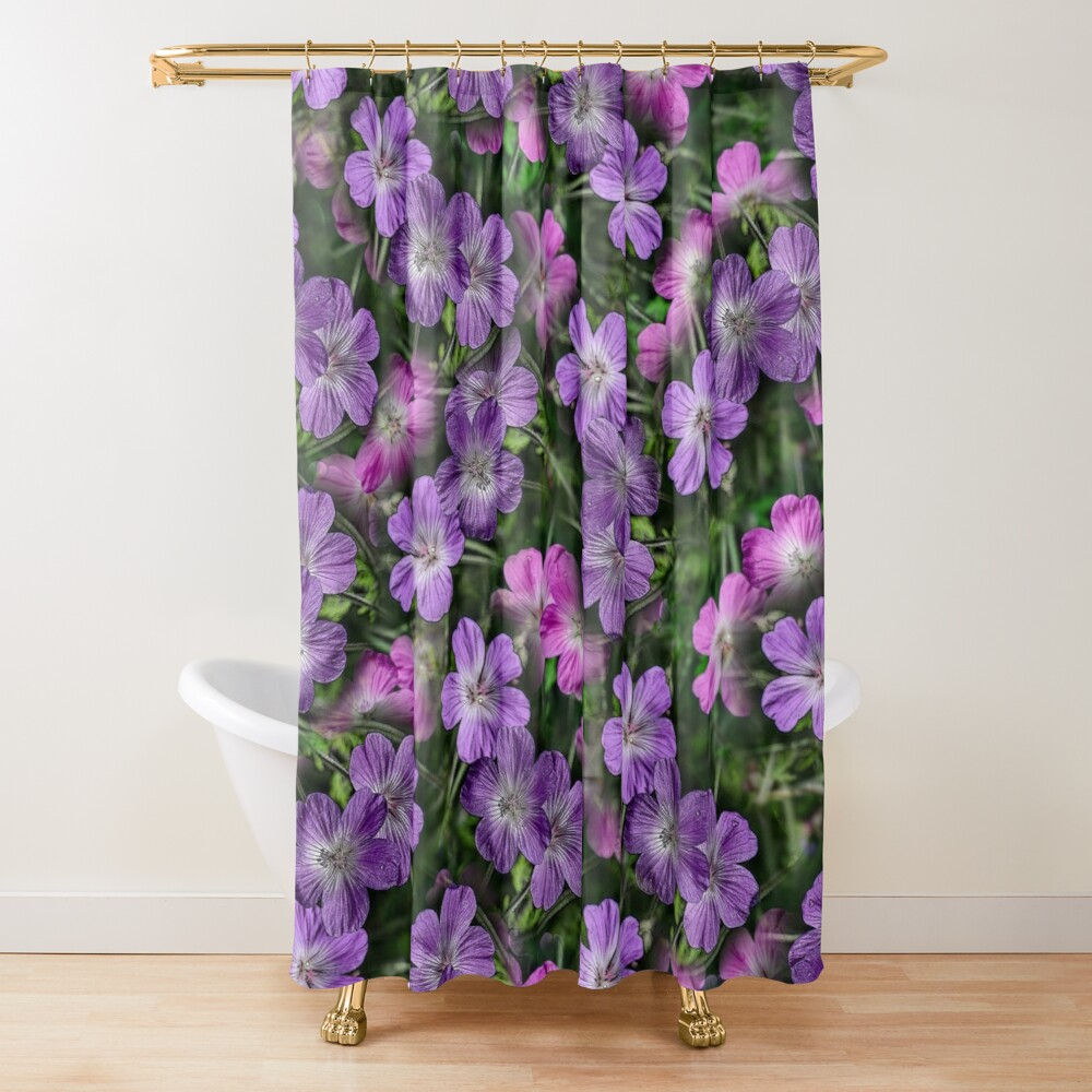 SOUTH AFRICAN GERANIUM COLLAGE  Shower Curtain