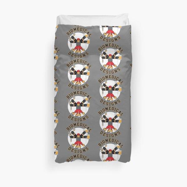 Hockey Man Biomedical Designs Duvet Cover