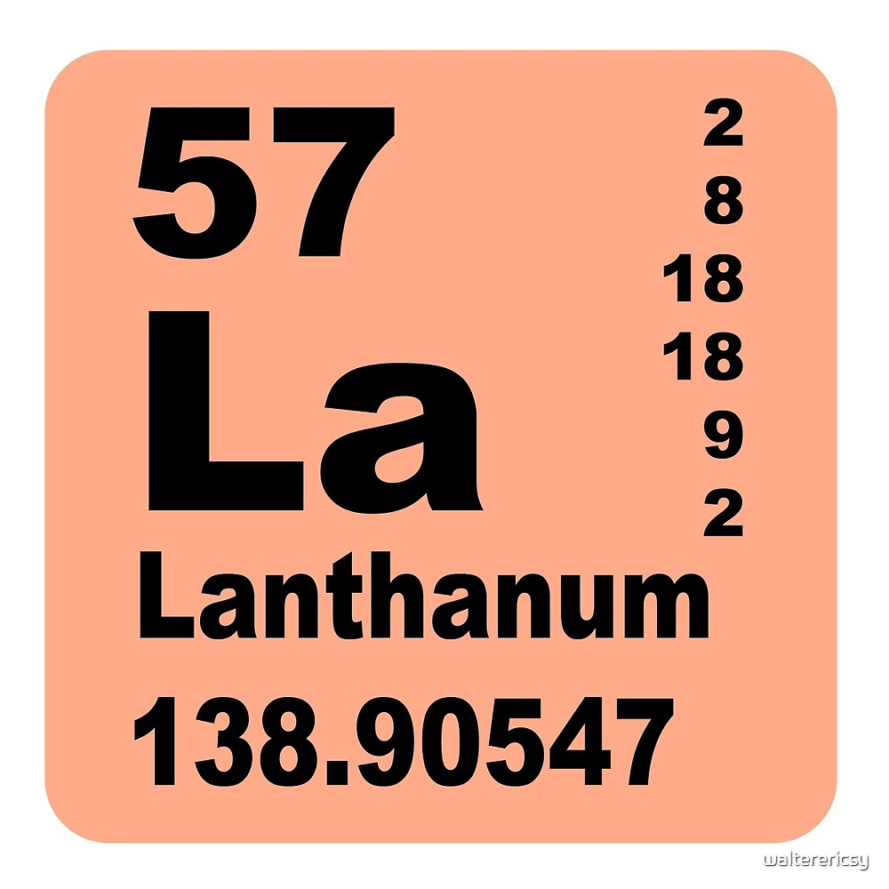 Lanthanum Periodic Table of Elements by walterericsy