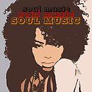 SOUL MUSIC, Popartfarben digital handgefertigt von Iona Art Digital von IonaArtDigital