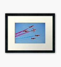 Red Arrows aerobatic team Framed Print