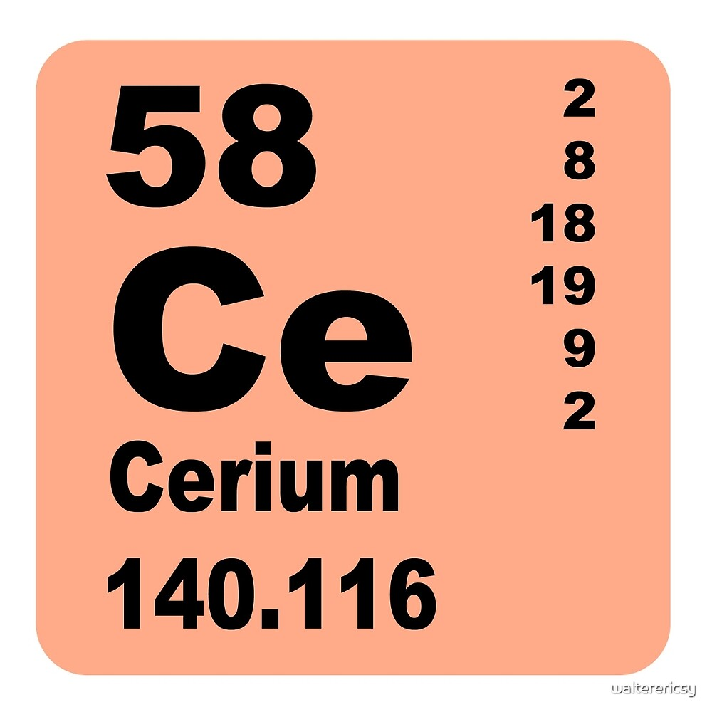 Cerium Periodic Table of Elements by walterericsy