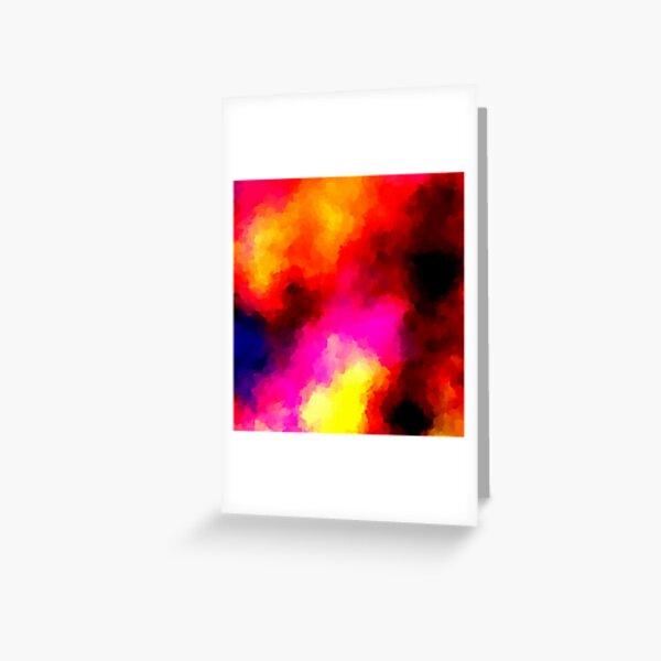 Psychedelic Emission Nebula Greeting Card