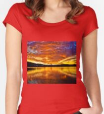 Burning sky Women's Fitted Scoop T-Shirt