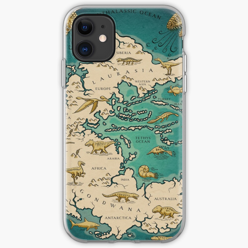 map of the supercontinent Pangaea iPhone Case & Cover