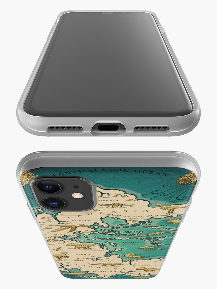 Alternate view of map of the supercontinent Pangaea iPhone Case & Cover