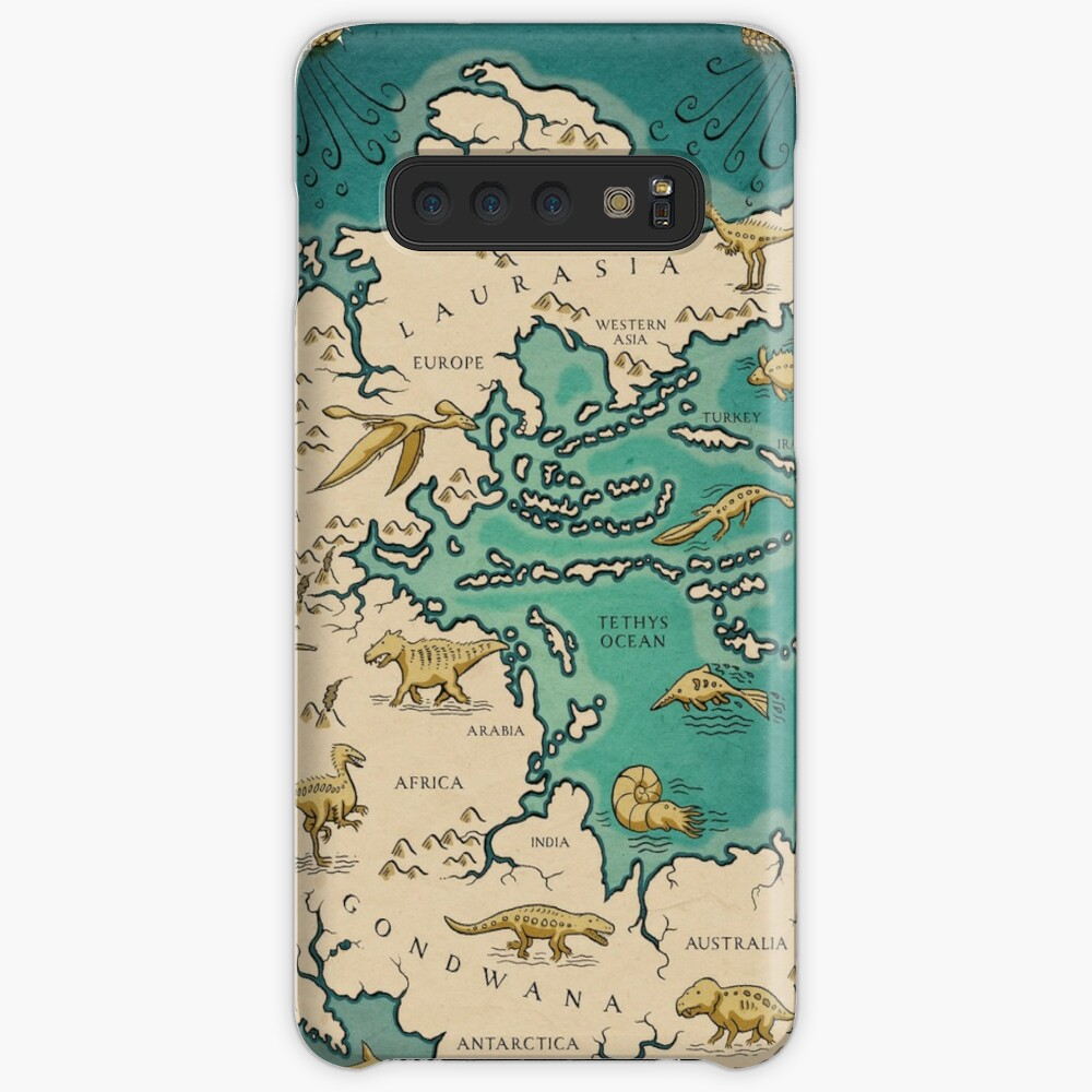 map of the supercontinent Pangaea Case & Skin for Samsung Galaxy