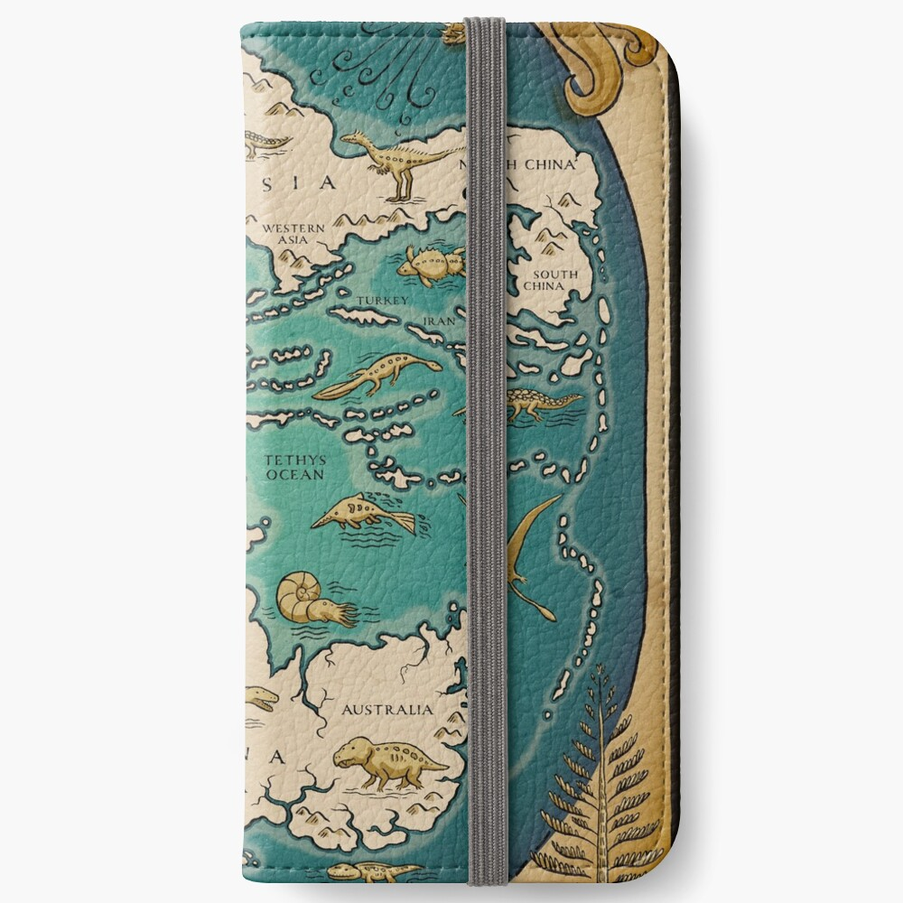 map of the supercontinent Pangaea iPhone Wallet